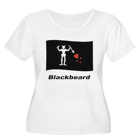 Pirate Flag - Blackbeard Women's Plus Size Scoop N