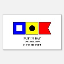Put in Bay Lake Erie Ohio Nautical Flag Ar Decal