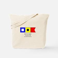 Put in Bay Lake Erie Ohio Nautical Flag A Tote Bag
