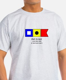 Put in Bay Lake Erie Ohio Nautical Flag Ar T-Shirt