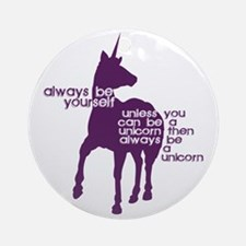 Purple Unicorns Round Ornament