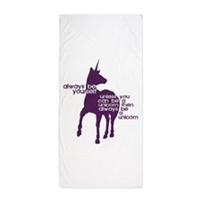 Purple Unicorns Beach Towel