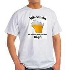 Cute Wisconsin out drinking your state since 1848 T-Shirt