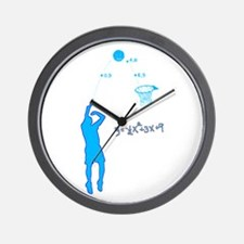 Basketball Shooter Quadratic Equation Wall Clock