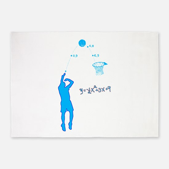 Basketball Shooter Quadratic Equati 5'x7'Area Rug
