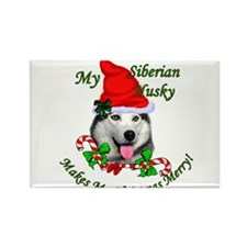 Unique Siberian huskies Rectangle Magnet