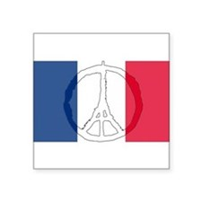 "Cute France Square Sticker 3"" x 3"""