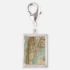 Cute Countries Silver Portrait Charm