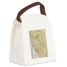 Cute Ny streets Canvas Lunch Bag