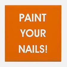 PAINT YOUR NAILS! Tile Coaster
