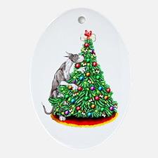 Great Dane Reach Goals Mantle Oval Ornament