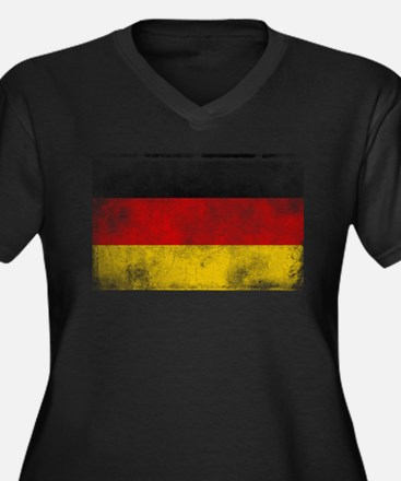 Distressed German Flag Plus Size T-Shirt