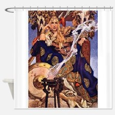 Celtic Queen Maev by Leyendecker Shower Curtain