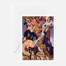Celtic Queen Maev by Leyendecker Greeting Card