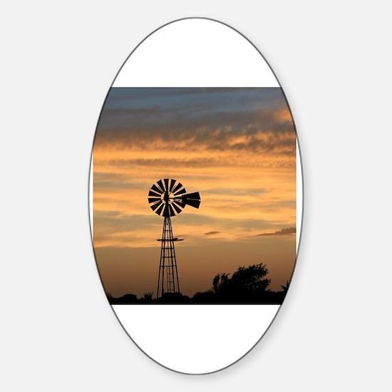 Cute Windmill Sticker (Oval)