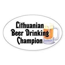 Lithuanian Beer Champ Oval Decal
