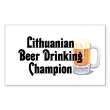 Lithuanian Beer Champ Rectangle Decal