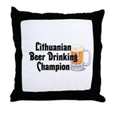 Lithuanian Beer Champ Throw Pillow