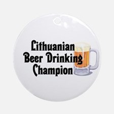 Lithuanian Beer Champ Ornament (Round)