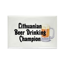 Lithuanian Beer Champ Rectangle Magnet