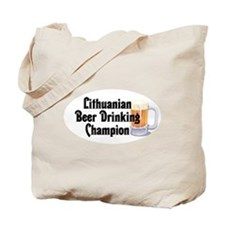 Lithuanian Beer Champ Tote Bag