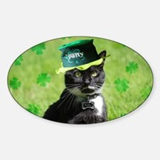 St. Patrick kitty Decal