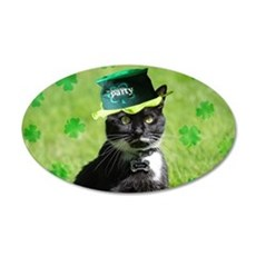 St. Patrick kitty Wall Decal