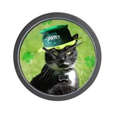 St. Patrick kitty Wall Clock