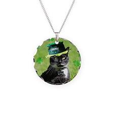 St. Patrick kitty Necklace