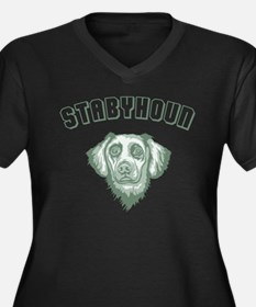 Stabyhoun Women's Plus Size V-Neck Dark T-Shirt