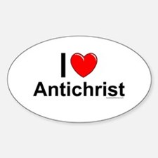 Antichrist Sticker (Oval)
