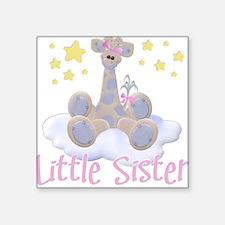 """Unique Giraffe little sister Square Sticker 3"""" x 3"""""""