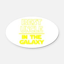 Funny Uncle Oval Car Magnet