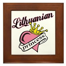 Lithuanian Princess Framed Tile