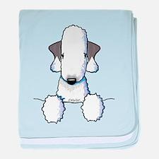KiniArt Bedlington Terrier baby blanket