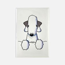 KiniArt Bedlington Terrier Rectangle Magnet