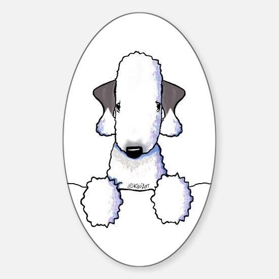 KiniArt Bedlington Terrier Sticker (Oval)
