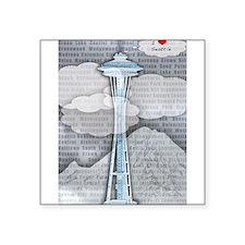 """Unique Seattle Square Sticker 3"""" x 3"""""""