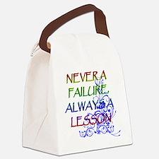 NEVER A FAILURE Canvas Lunch Bag