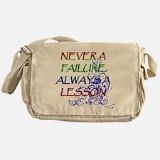 NEVER A FAILURE Messenger Bag
