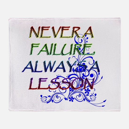 NEVER A FAILURE Throw Blanket
