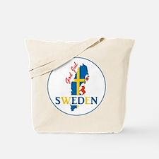 God Jul Sweden Map Tote Bag