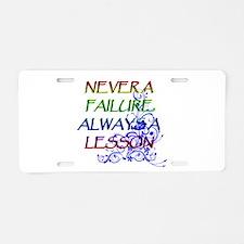 NEVER A FAILURE Aluminum License Plate