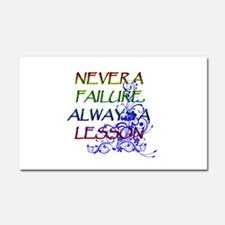 NEVER A FAILURE Car Magnet 20 x 12