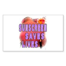 Sunscreen Saves Lives Rectangle Decal
