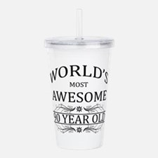 90th. Birthday Acrylic Double-wall Tumbler