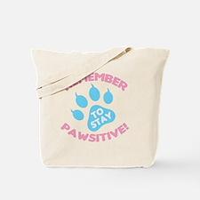Cute Pawsitive Tote Bag