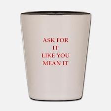 ask Shot Glass