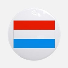 Luxembourgian Flag Ornament (Round)