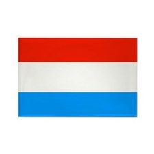 Luxembourgian Flag Rectangle Magnet